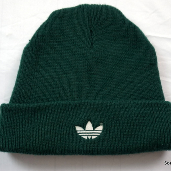 adidas Other - Vintage 80s Adidas Knit Winter Hat Treefoil Green ed569439d1f